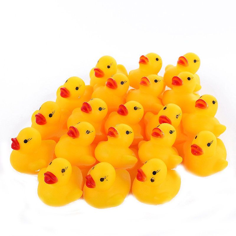 48X Mini Yellow Bathtime Rubber Ducks Bath Toy Squeaky Water Play ...