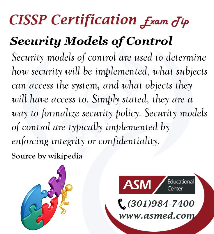 Cissp Certification Traning Exam Tip Security Models Of Control