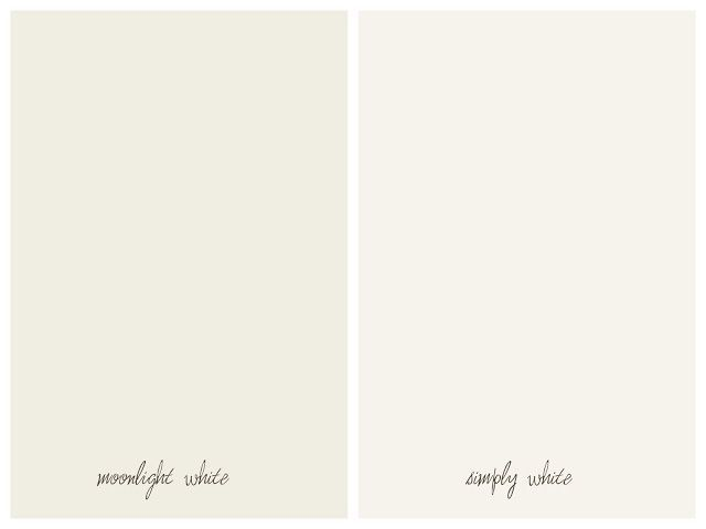 Benjamin moore 39 s simply white moonlight white walls for Gloss paint for trim