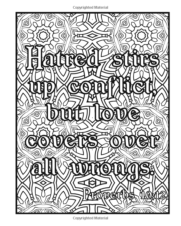 Amazon Scripture Coloring Book Bible For Adults Containing Uplifting