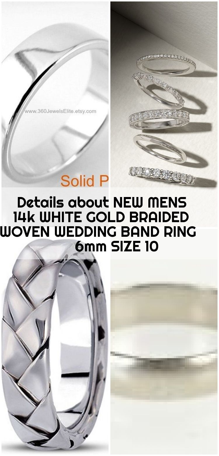 Details About New Mens 14k White Gold Braided Woven Wedding Band Ring 6mm Size 10 Wedding Ring Bands Mens Wedding Rings Platinum Mens Wedding Bands Platinum