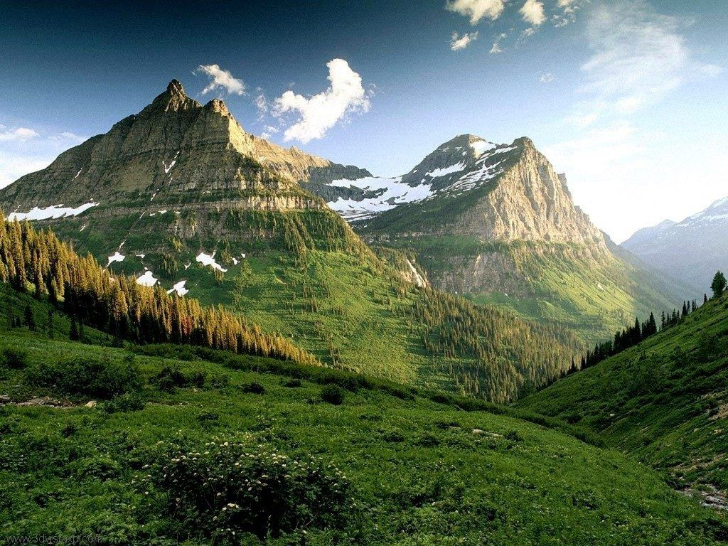 Mountain Green Mountain Nature Mountains Wallpapers HD 16