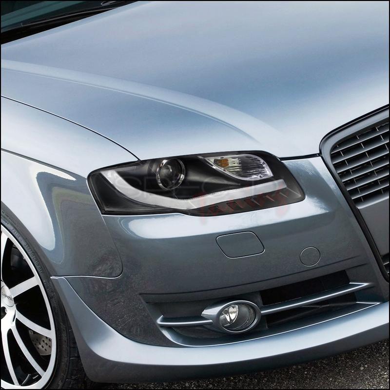 Spec D Projector Headlights Audi A4 06 07 08 W R8 Style Led Strip Audi A4 Black Audi A4 Audi