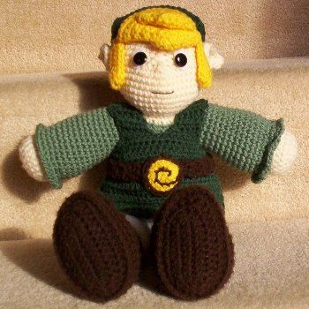 Link, from the Legend of Zelda... with free pattern ...