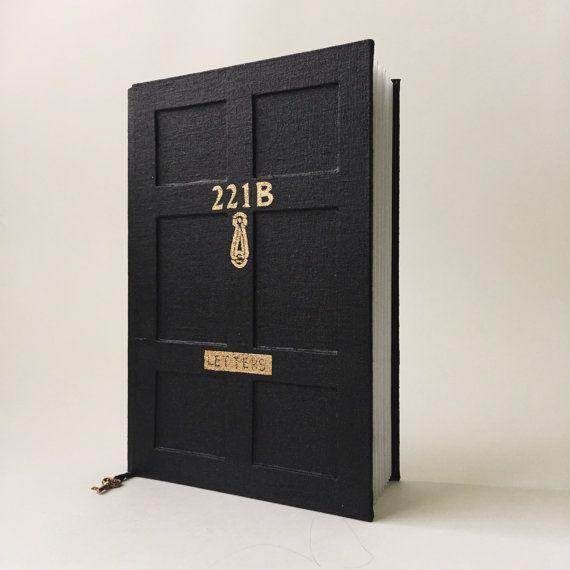Arthur Conan Doyle book,Sherlock Holmes journal,Baker Street 221B notebook,handcrafted journal,Adventures of Sherlock Holmes,true crime