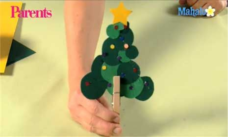 Circle Tree Christmas Craft How-To Video Christmas tree, Craft