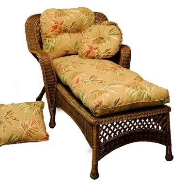 Key Largo Design Chaise Lounge Chair Indoor Wicker Furniture