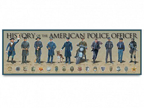 Historical Prints By History America Police History Police Officer