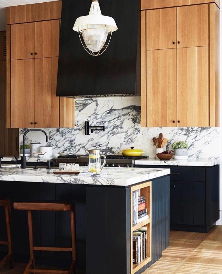 Pin de Janelle Hoskins en Black Kitchens Pinterest Muebles - muebles en madera modernos