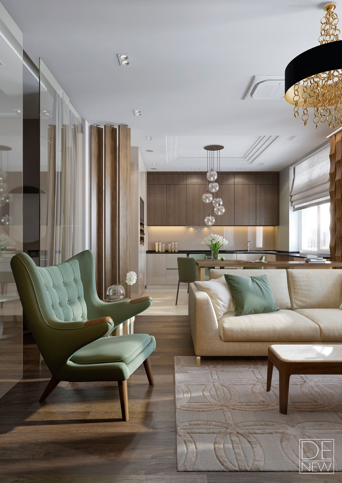 Latest Interior Design For Living Room: Modern Apartment For A Young Family.