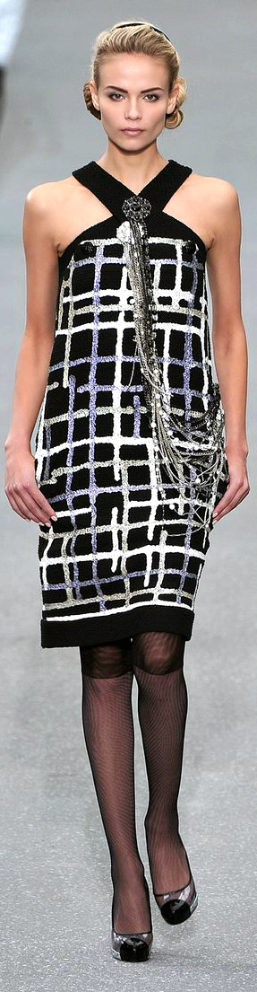 Chanel ~ Summer Halter Dress, Black/White