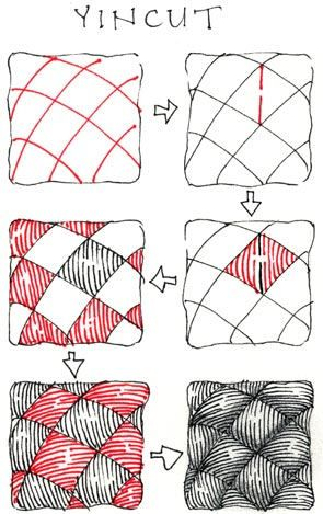 Zentangle patterns step by step Google Search Zentangles Custom Zentangle Patterns Step By Step
