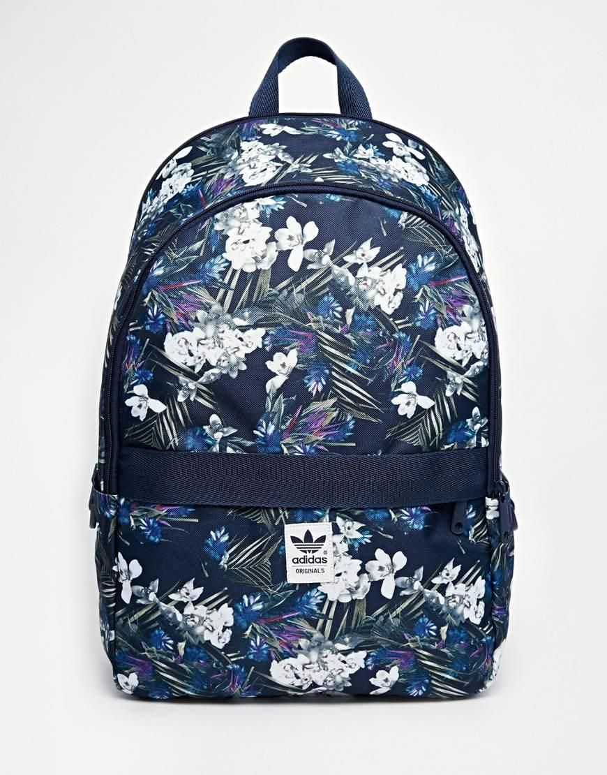 Adidas   adidas Originals Backpack in Floral Print at ASOS ... d84cc88e71