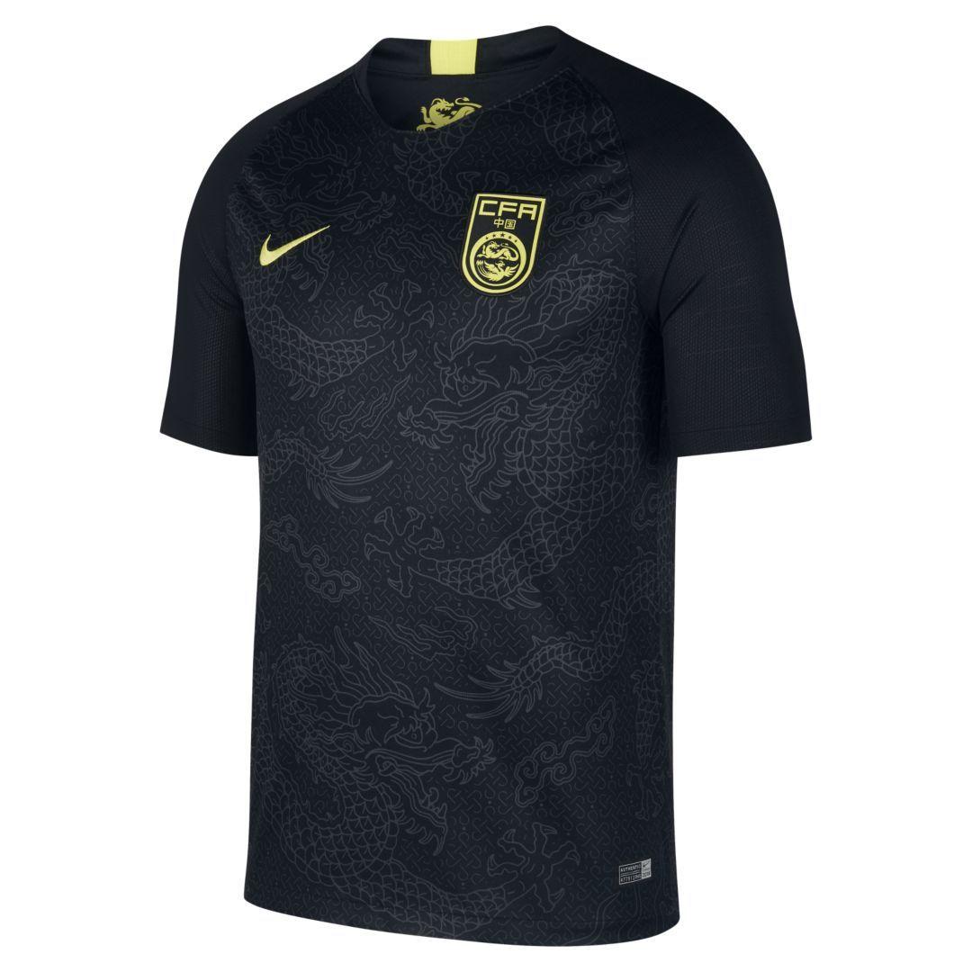 22242fe8985 2018 China Stadium Away Men s Soccer Jersey Size XL (Black ...