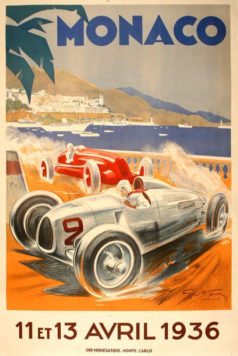VINTAGE 1950 OSLO GRAND PRIX A4 POSTER PRINT