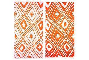 One Kings Lane Beach Towels Leanne Shapton Geometric Towel