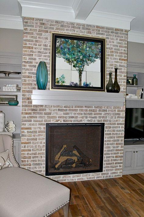 Brick Fireplace Accent Wall Brick Fireplace Fireplace Brick