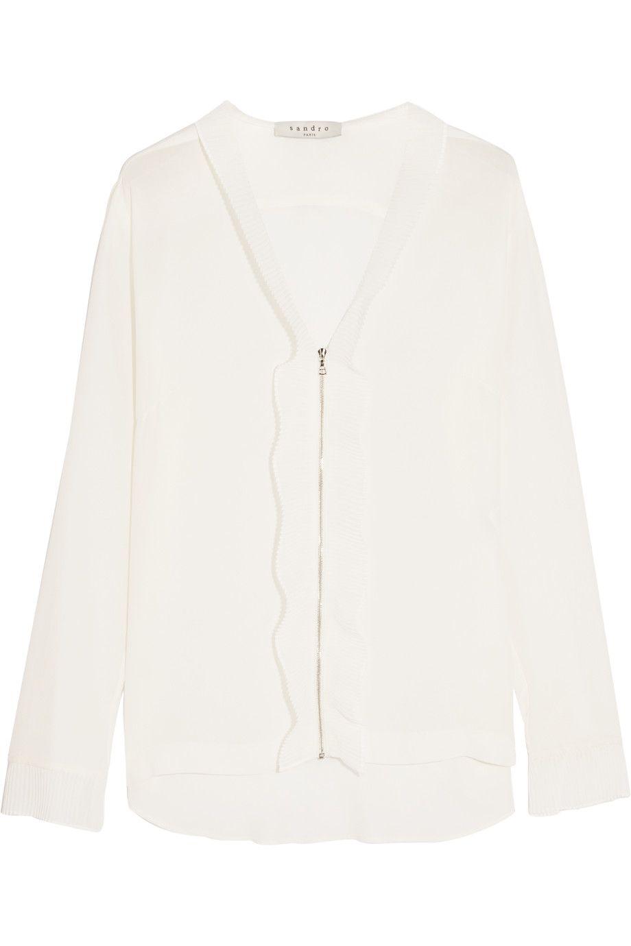 1f785aa896a82a SANDRO Coline silk-blend blouse.  sandro  cloth  blouse