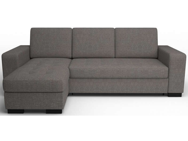 Canap d 39 angle convertible new scott coloris gris vente de canap d 39 - Canapes chez conforama ...
