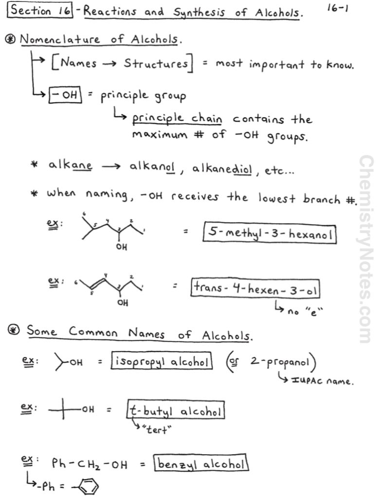 Reactions Of Alcohols Synthesis Of Alcohols In 2020 Chemistry Notes Organic Chemistry Notes Organic Chemistry