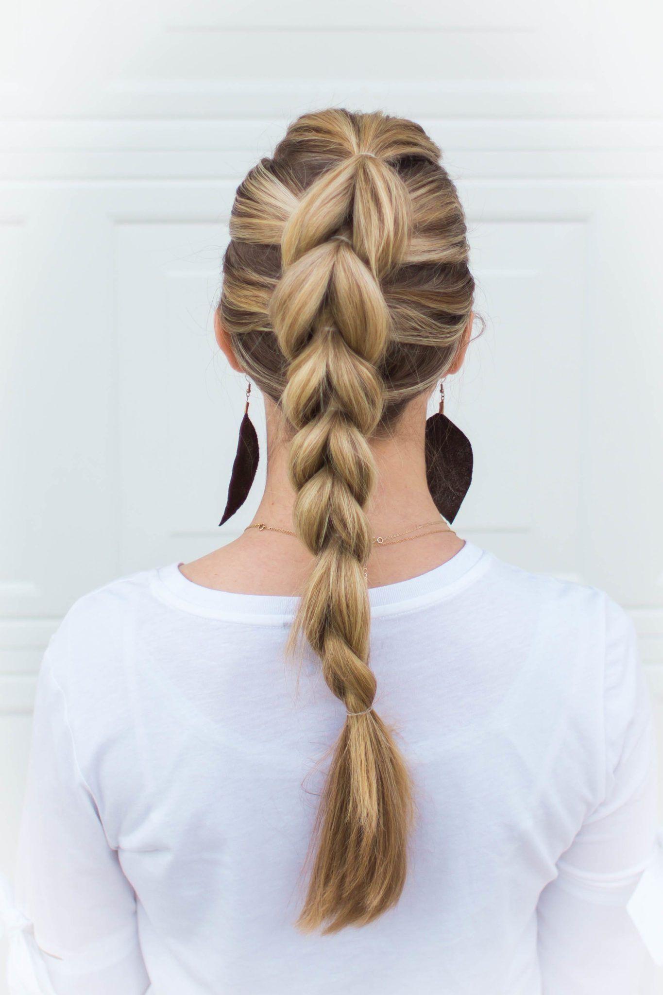 how to pullthrough braid an easy beginner hairstyle