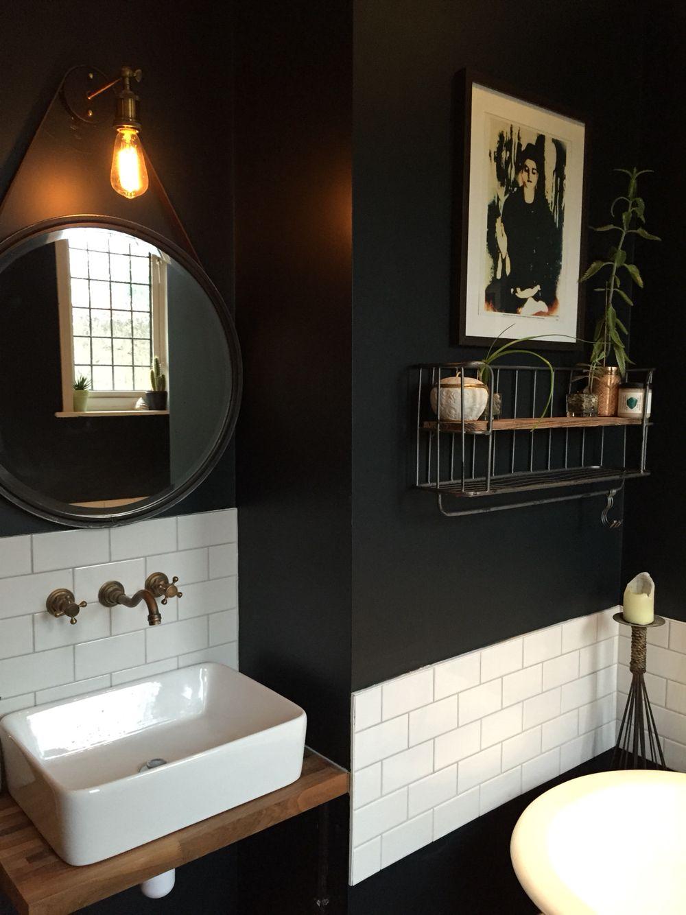 Farrow Ball Black Blue Bathroom Bath Time Is Best Black Bathroom Blue Bathroom Bathroom Color