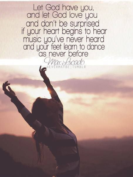 Dancing theme today! Lord let me follow your lead and match your steps!