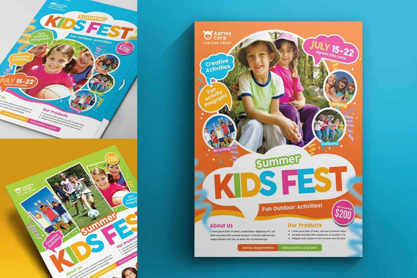 Kids Summer Camp Flyer By Aarleykaiven On Summer Camps For Kids