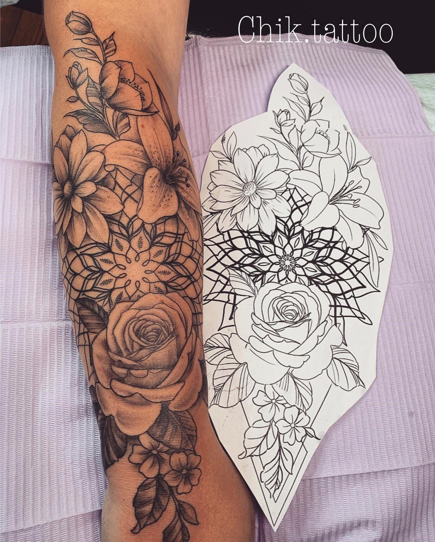 100+ Die schönsten Flower Tattoo Designs - - #beautiful #designs #flower ...