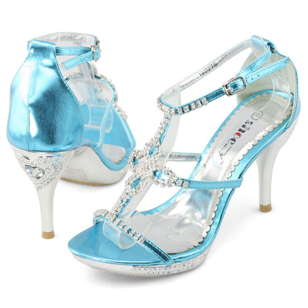 Silver Womens Dress Evening Shoes