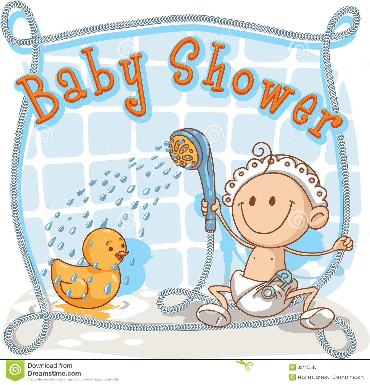 Baby Shower Cartoon Invitation Stock Vector Image