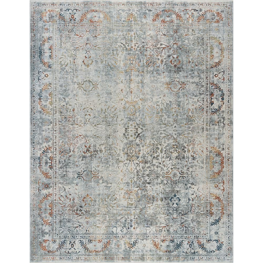 Tayse Rugs Venice Gray 9 Ft 6 In X 12 Ft 5 In Area Rug Ven1209