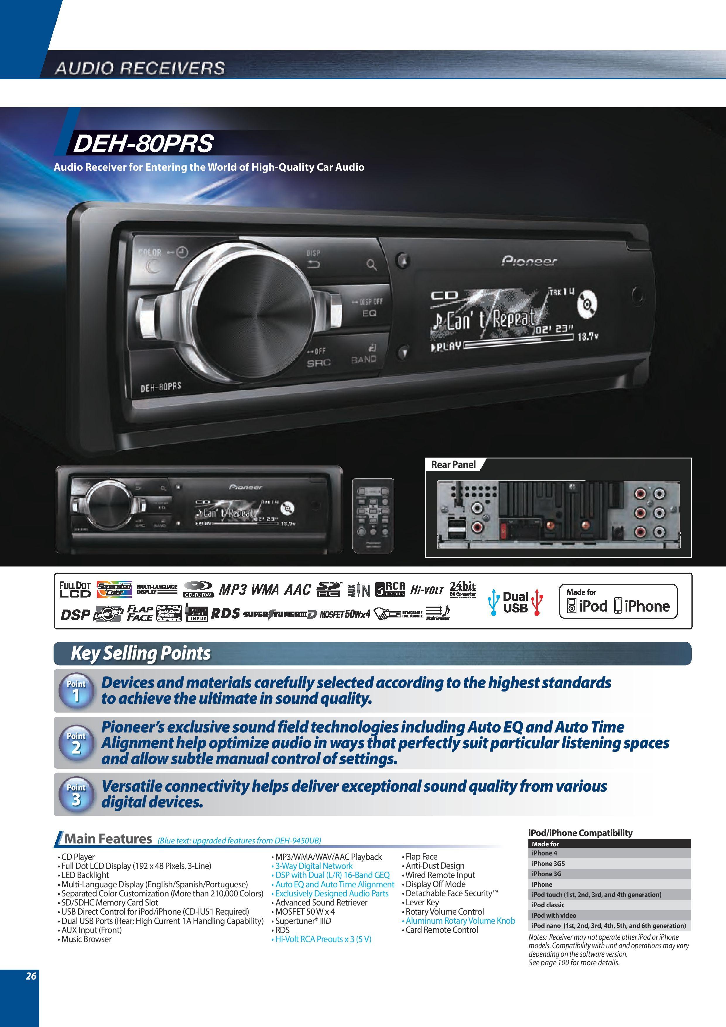 pioneer deh 80prs car stereo teknoloji pinterest rh pinterest com Pioneer Deh 1100 Wiring-Diagram Pioneer Deh 11 Wiring Diagram