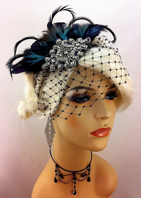 Violet Hackle Biot Grass And Silver Pearl Feather Millinery Fascinator Mount