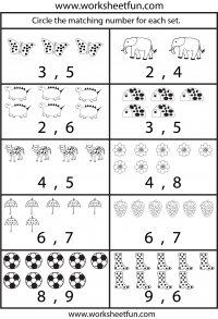 counting circle the matching number for the set Free