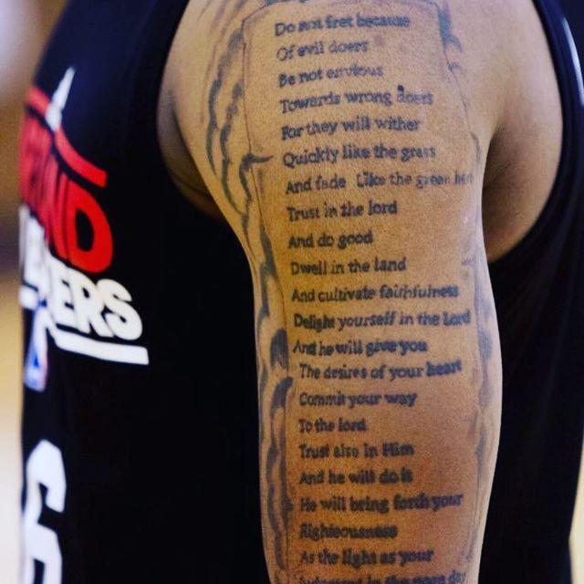 Damian lillard tattoo