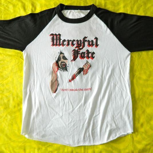 d2485e367ee1 Vintage MERCYFUL FATE 1984 DONT BREAK THE OATH TOUR T-SHIRT | T ...