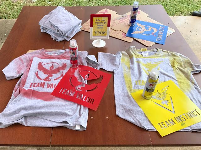 DIY Pokemon Go Team T Shirts As Party Favors For A Themed Birthday