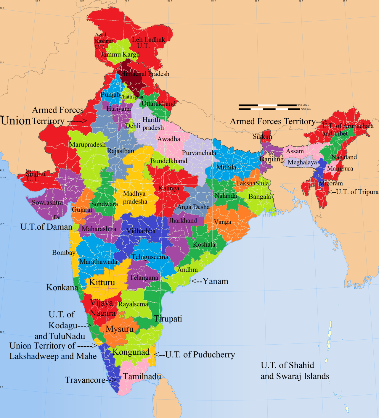 Proposed states and territories of India Wikipedia