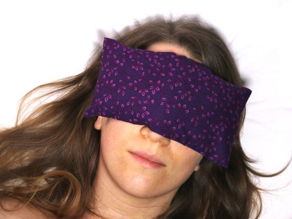 Lavender Eye Pillow | Cotton Washable Cover | Recovery Relaxation Spa Handmade Meditation Yoga Shavasana