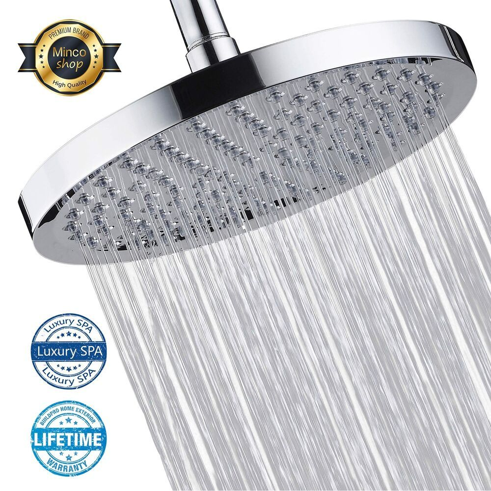 Shower Head High Pressure Rain Shower Head High Flow 8