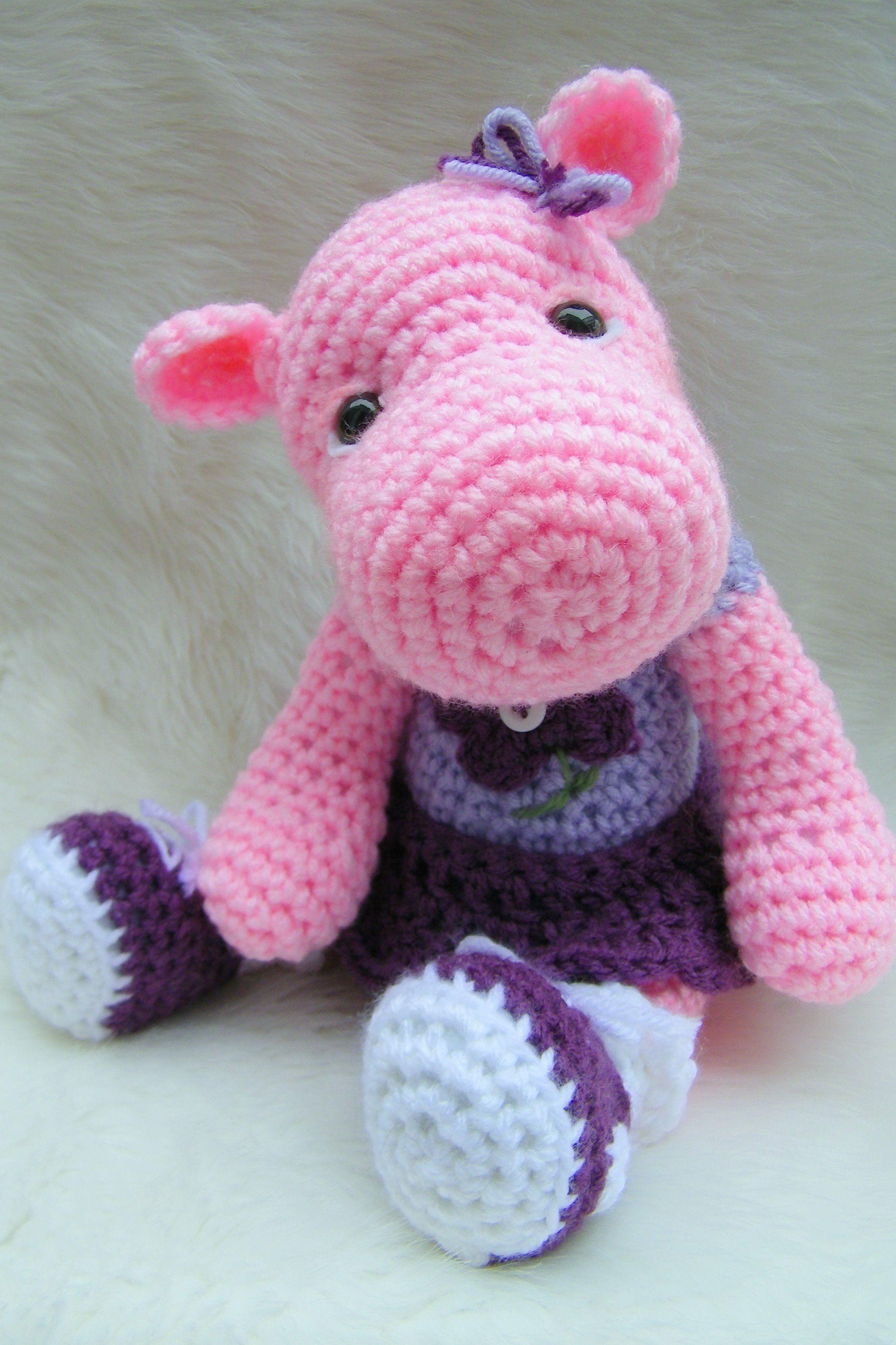 Simply Cute Hippo pattern by Teri Crews | Crochet Amurgurmie & other