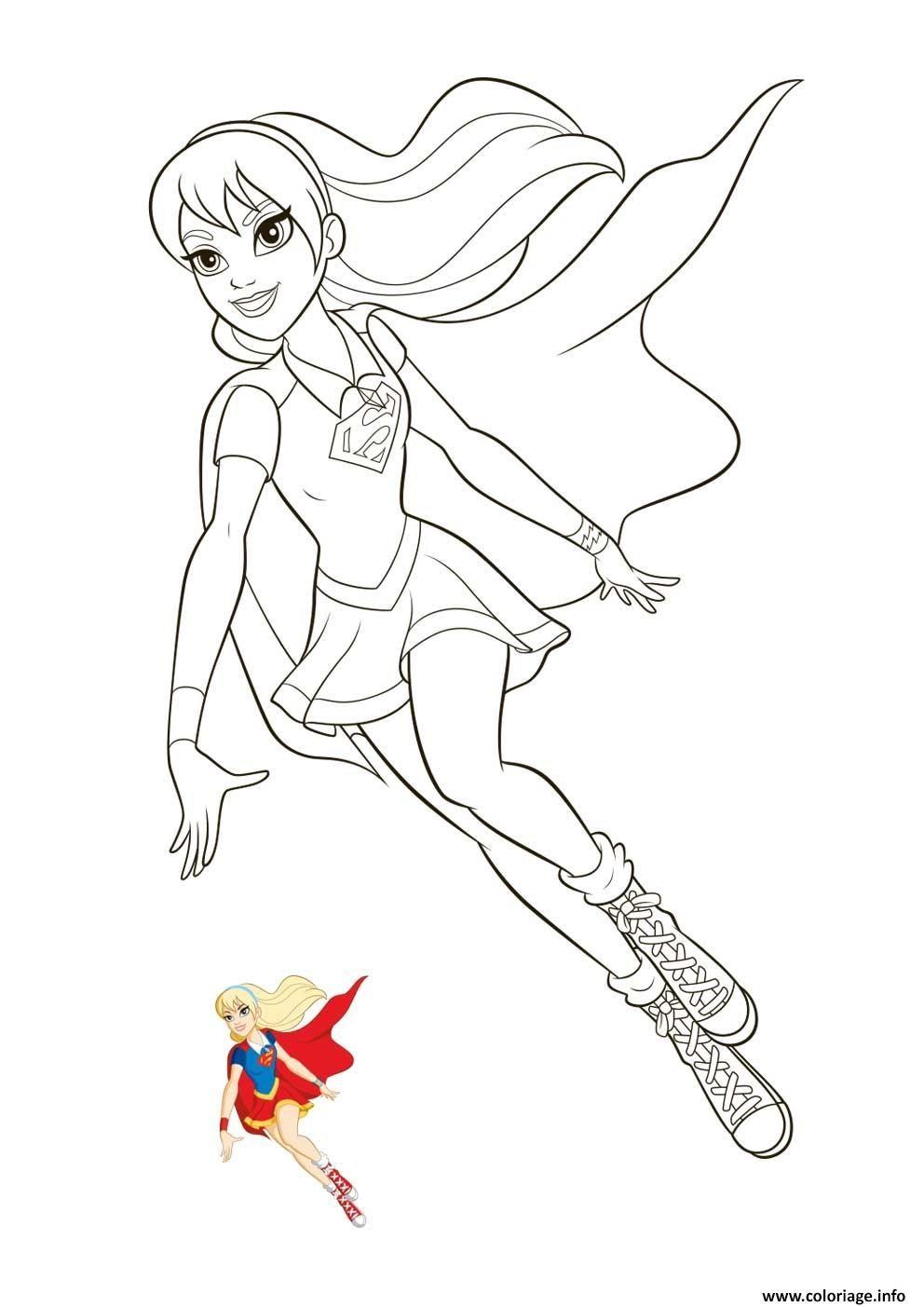 Coloriage Supergirl Super Hero Girls A Imprimer Coloriage Super Heros Coloriage Coloriage Ladybug