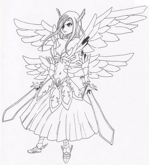 Coloring Pages Fairy Tail Drawing