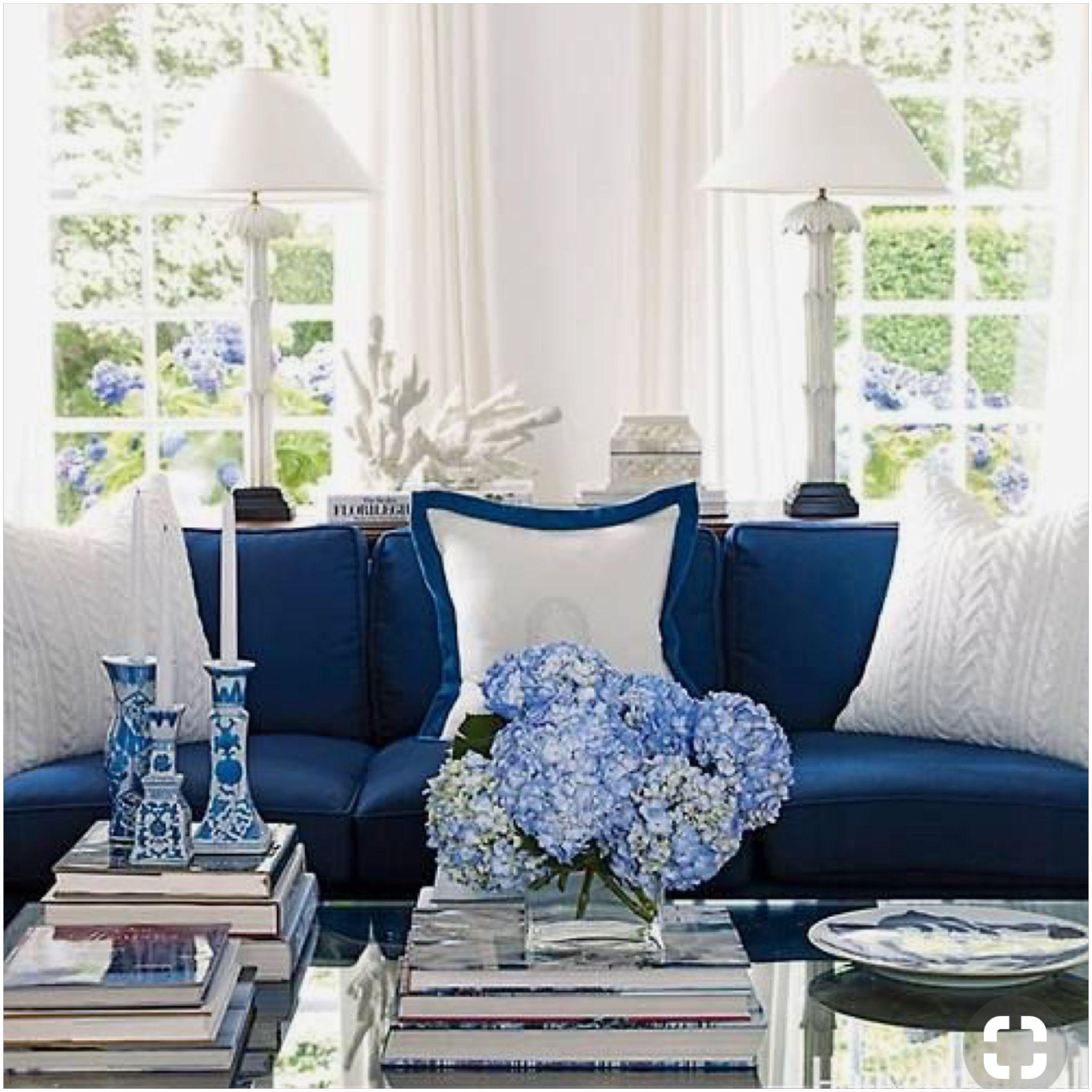 Blue Family Room Blue And White Living Room Living Room D