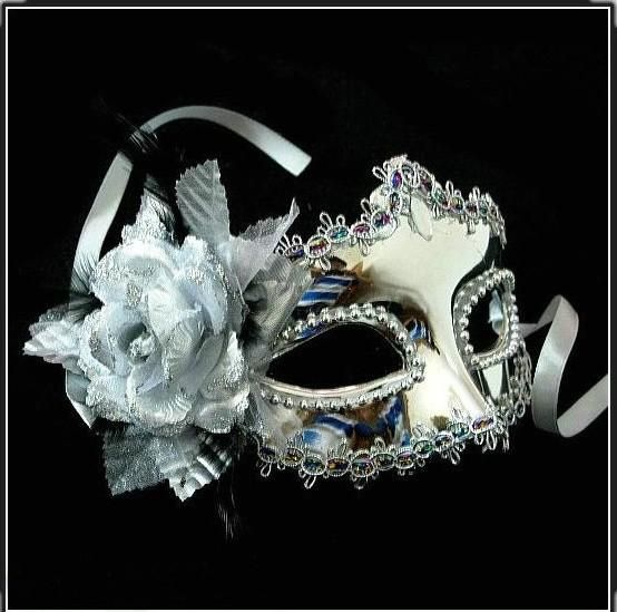 Style Lace Party Carnival Fancy Dress Eye Masks Masquerade Ball Flower/&Feather