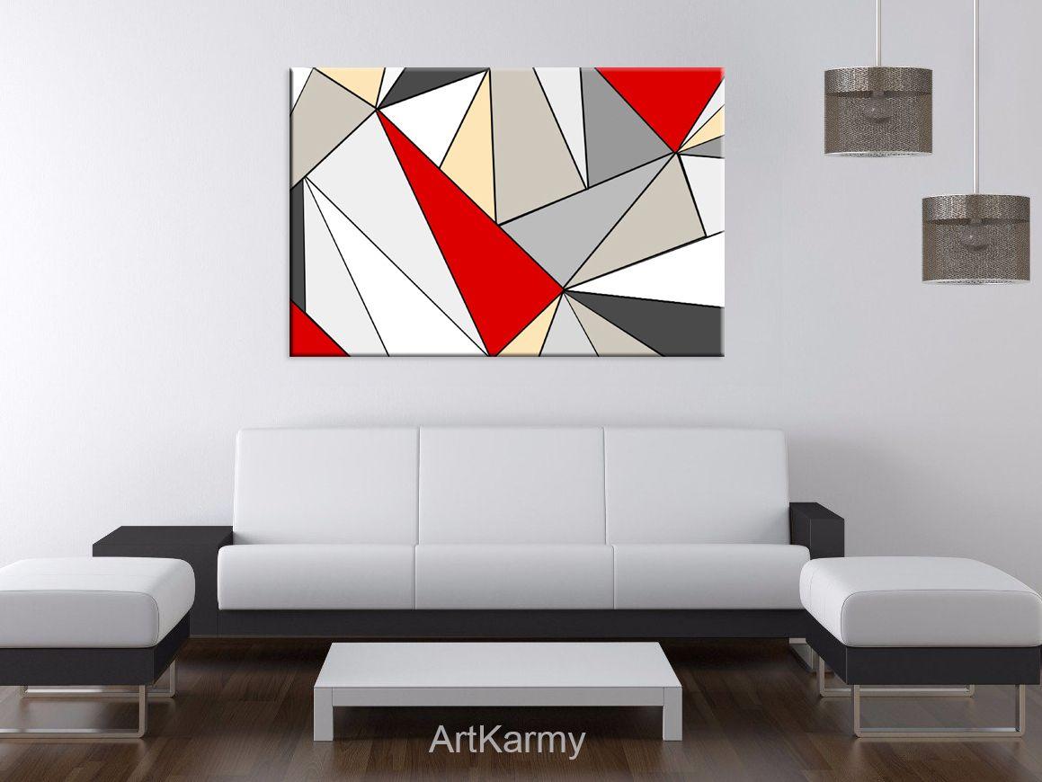 Dipinti moderni geometrici astratti dipinto a mano dipinti su tela