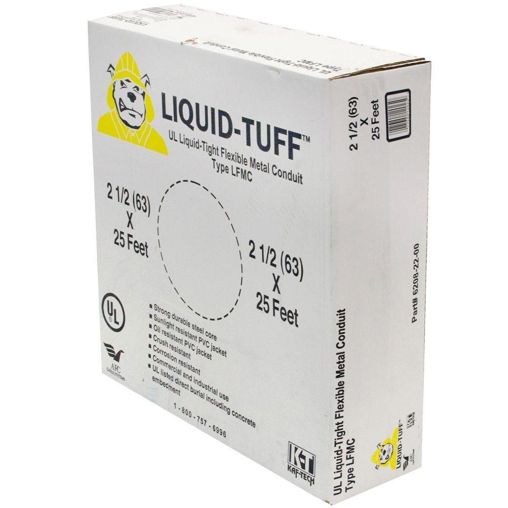 Liquid Tight 2-1/2 in. x 25 ft. Flexible Steel Conduit
