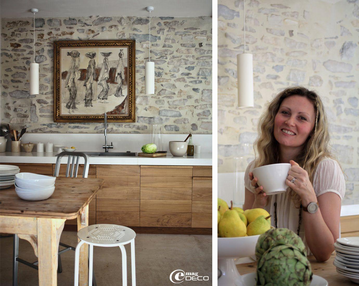 cuisine en ch ne massif et plan de travail en quartz. Black Bedroom Furniture Sets. Home Design Ideas