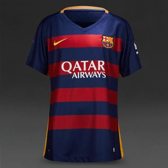 30ca9d4ab Nike FC Wmns Barcelona 15 16 SS Home Stadium Jersey - Loyal Blue Storm  Red University Gold
